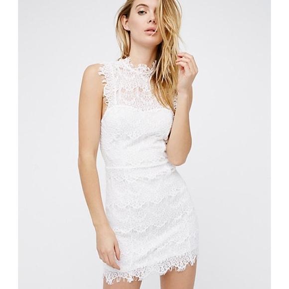 9fd4bae23686 Free People Dresses | Daydream Bodycon Lace Slip Dress L Nwt | Poshmark